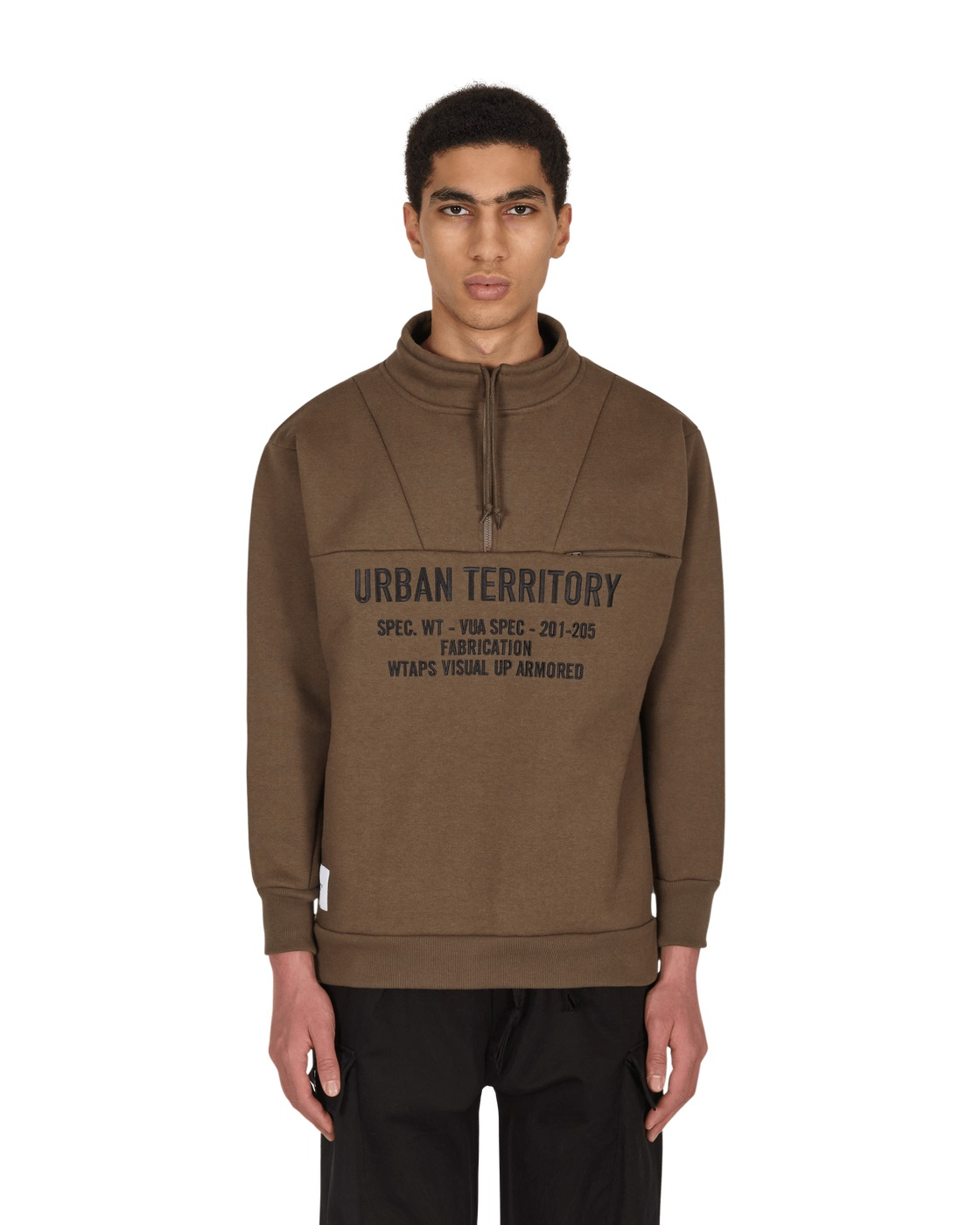 Photo: Wtaps Crucible High Neck Sweatshirt Olive Drab
