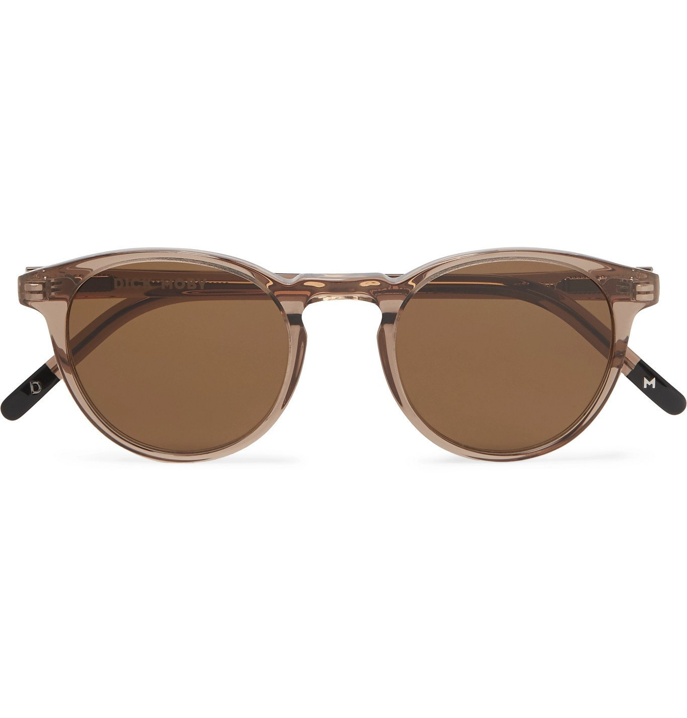 Photo: Dick Moby - Seattle Round-Frame Acetate Sunglasses - Brown