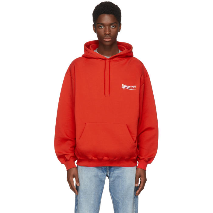 Photo: Balenciaga Red Campaign Hoodie