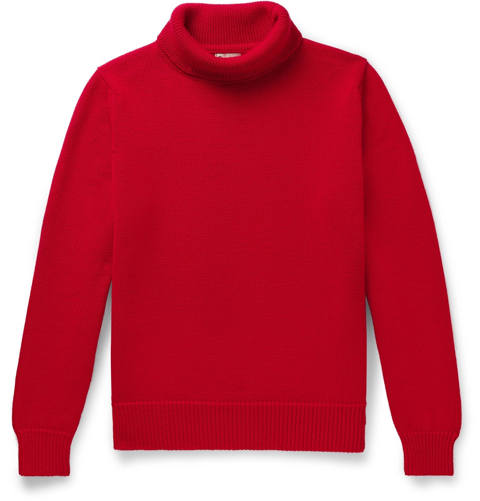 Photo: Connolly - Goodwood Merino Wool Rollneck Sweater - Red