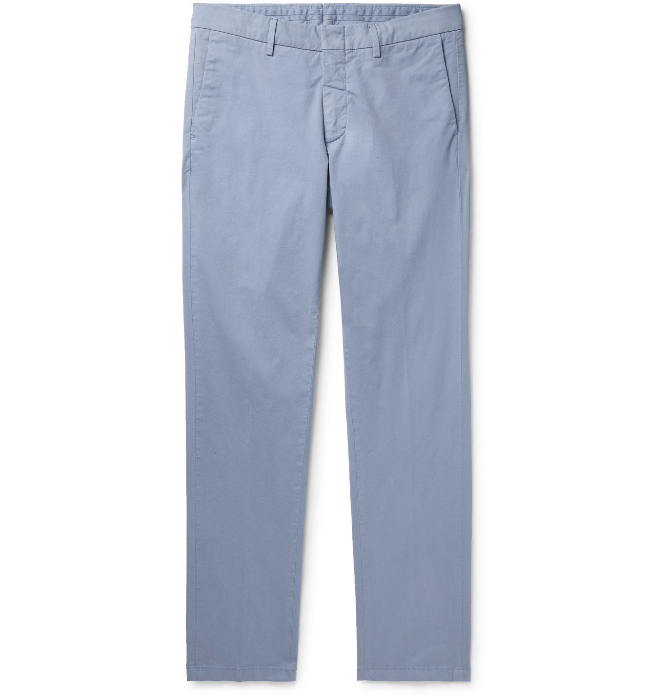 DUNHILL - Cotton-Blend Twill Chinos - Blue
