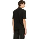 Dunhill Black Diagonal Texture Polo
