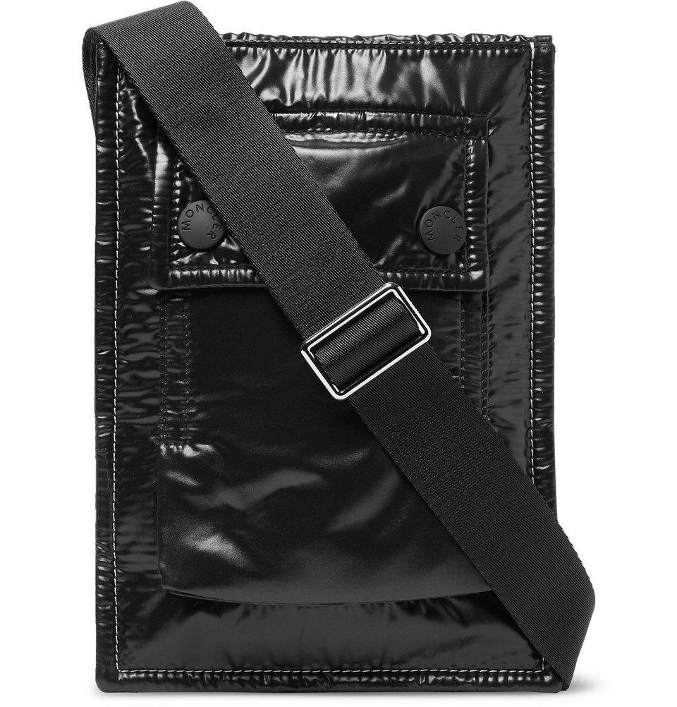 Photo: Moncler - Glossed-Nylon Messenger Bag - Black