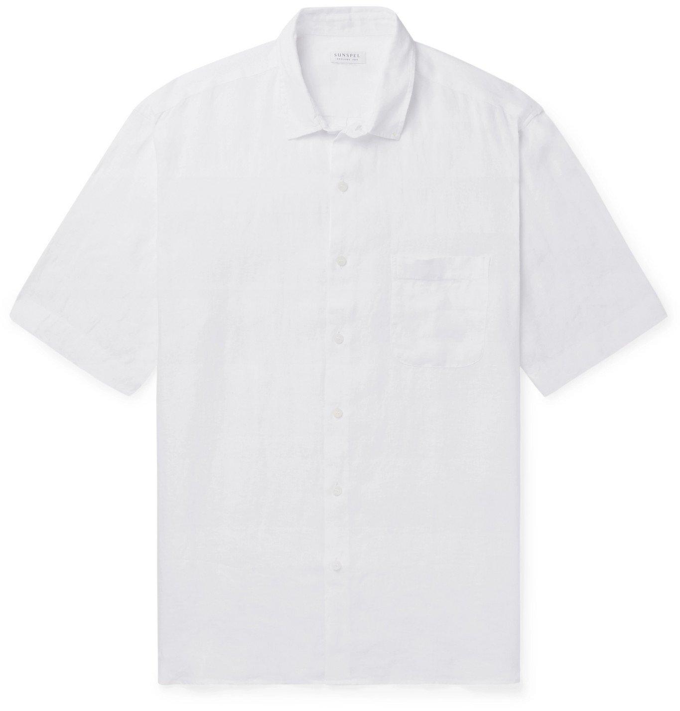 Photo: Sunspel - Linen Shirt - White