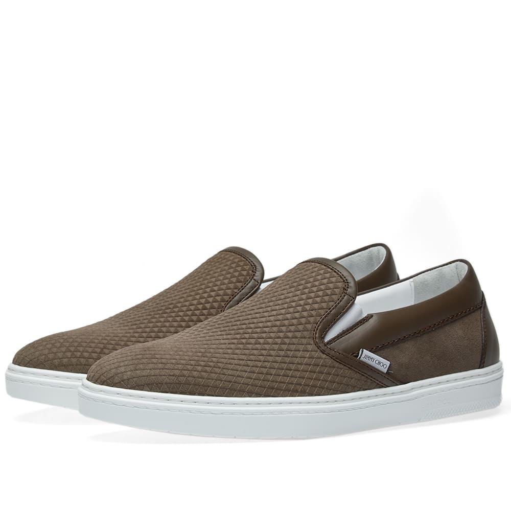 Photo: Jimmy Choo Grove Stamped Nubuck Slip On Sneaker Brown