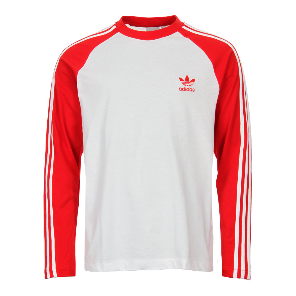 T-Shirt Long Sleeve - White / Red