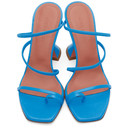 Amina Muaddi Blue Nappa Naima Heels