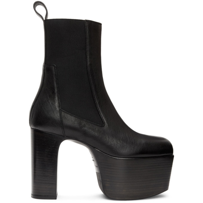 Photo: Rick Owens Black Kiss Chelsea Boots