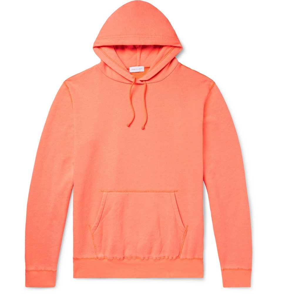 Photo: John Elliott - Loopback Cotton-Blend Jersey Hoodie - Orange