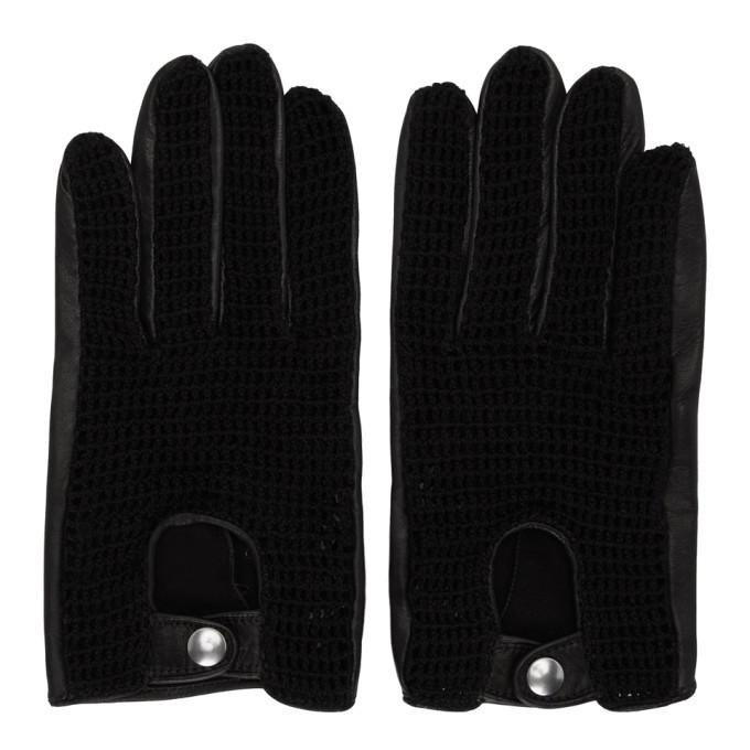 Photo: Ernest W. Baker Black Crochet Gloves