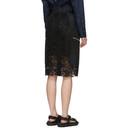 Sacai Black Chemical Lace Skirt