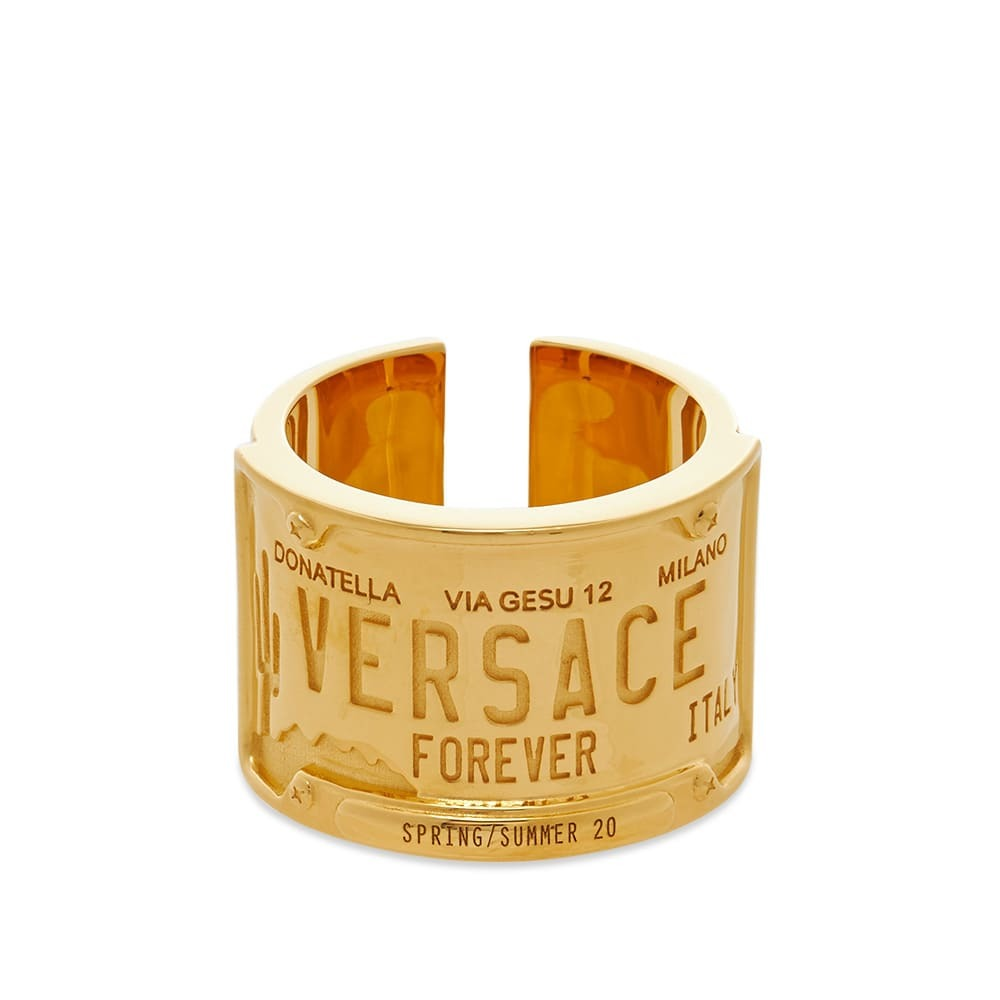 Versace Number Plate Ring