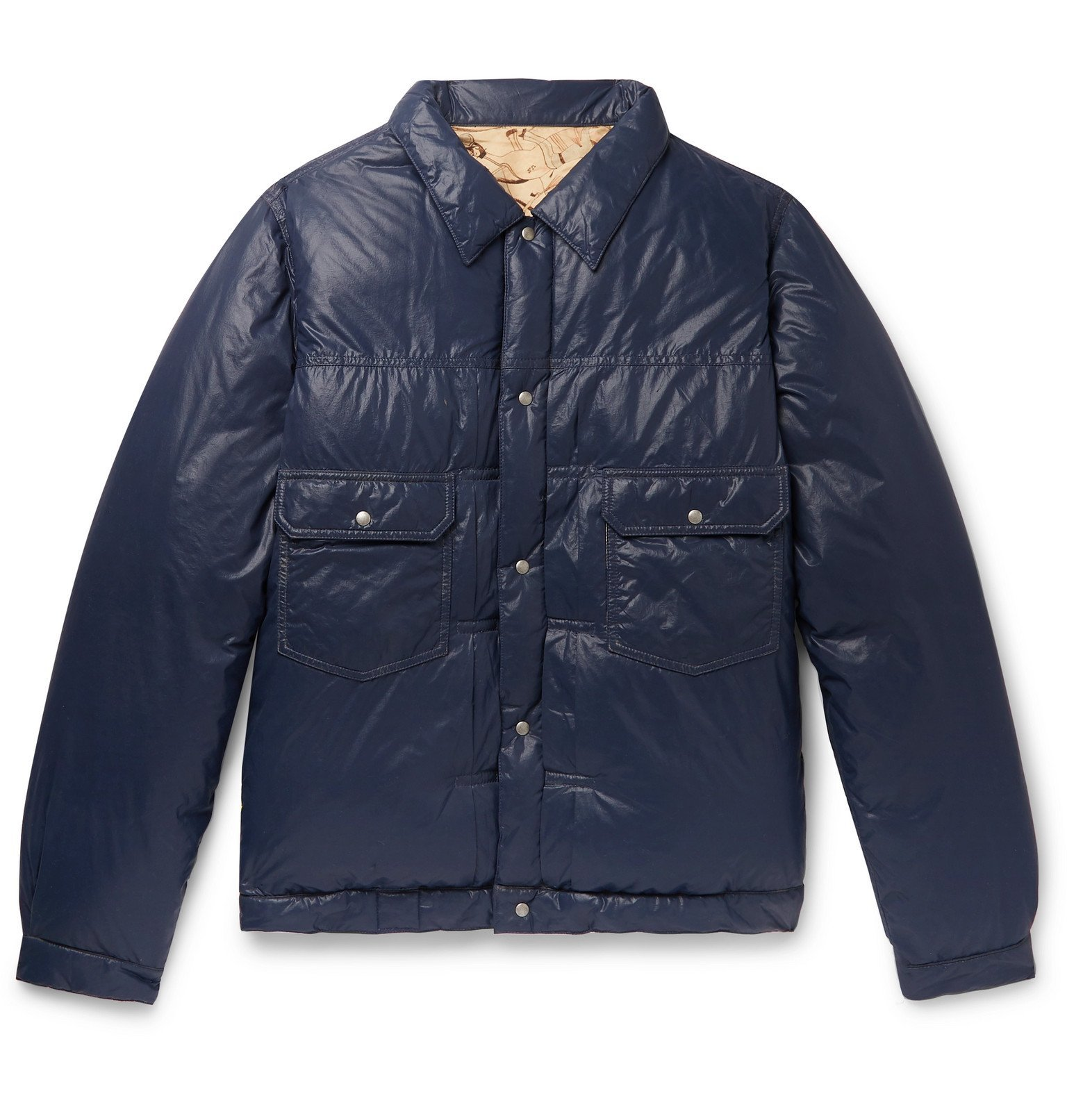 Photo: visvim - Quilted Nylon-Shell Down Jacket - Blue