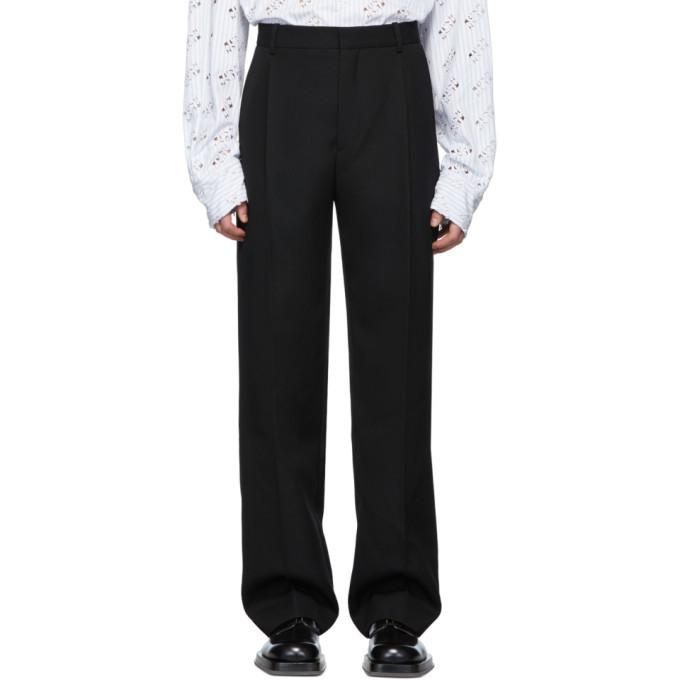 Botter Black Classic Wool Trousers