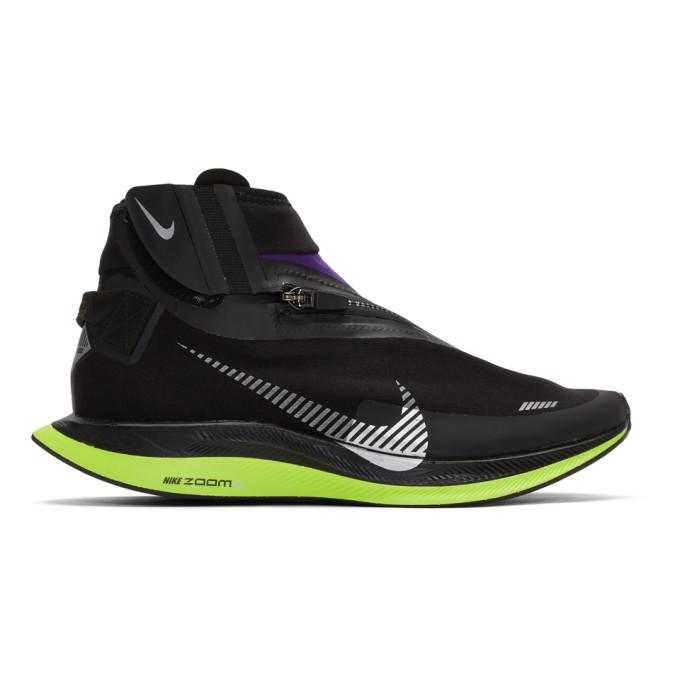Photo: Nike Black and Purple Zoom Pegasus Turbo Shield WP Sneakers
