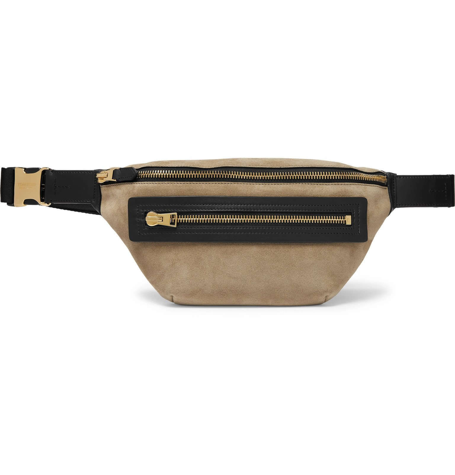 Photo: TOM FORD - Suede and Leather Belt Bag - Brown