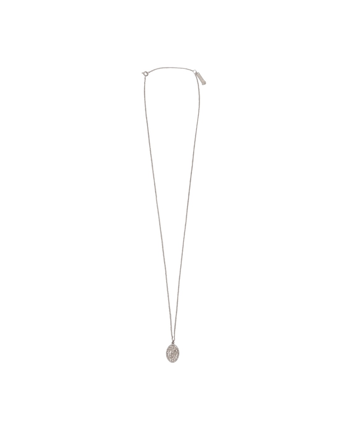 Photo: Aries Chain Necklace With Fly Paved Pendants Silver