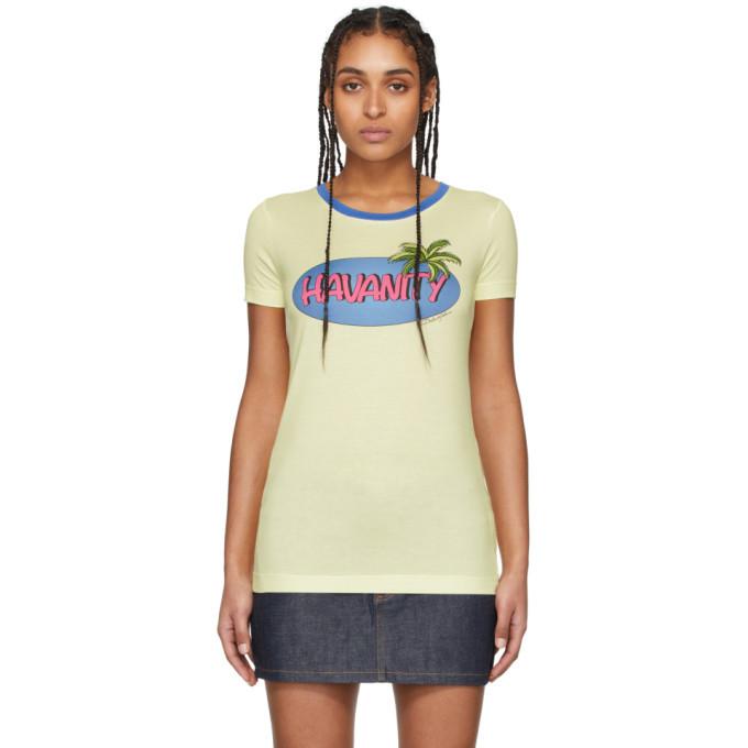 Photo: Dolce and Gabbana Yellow Havanity T-Shirt