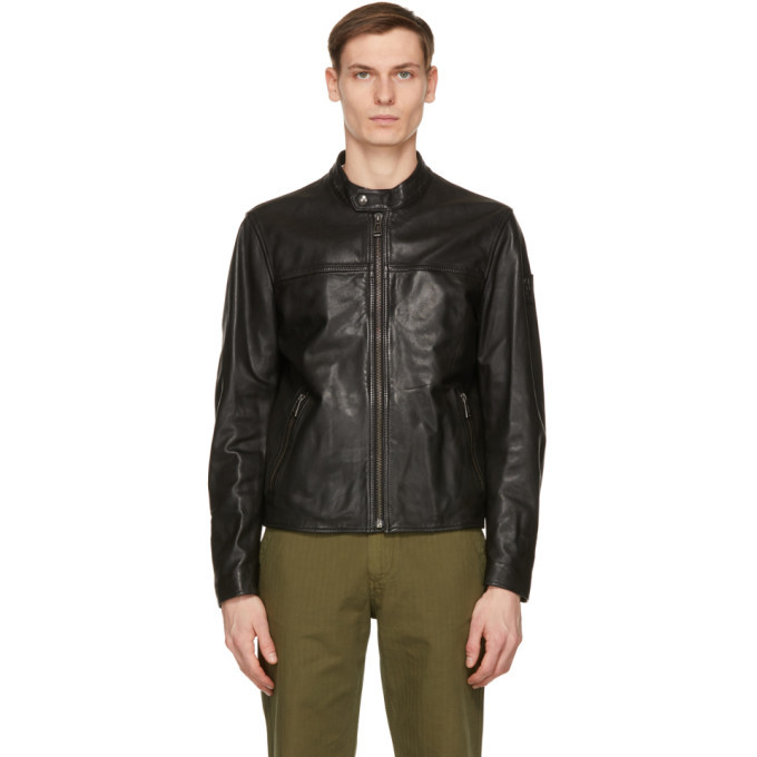 Photo: Belstaff Black Leather Pelham Jacket