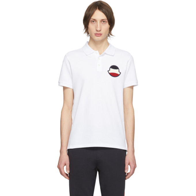 Photo: Moncler White Manica Corta Maglia Polo