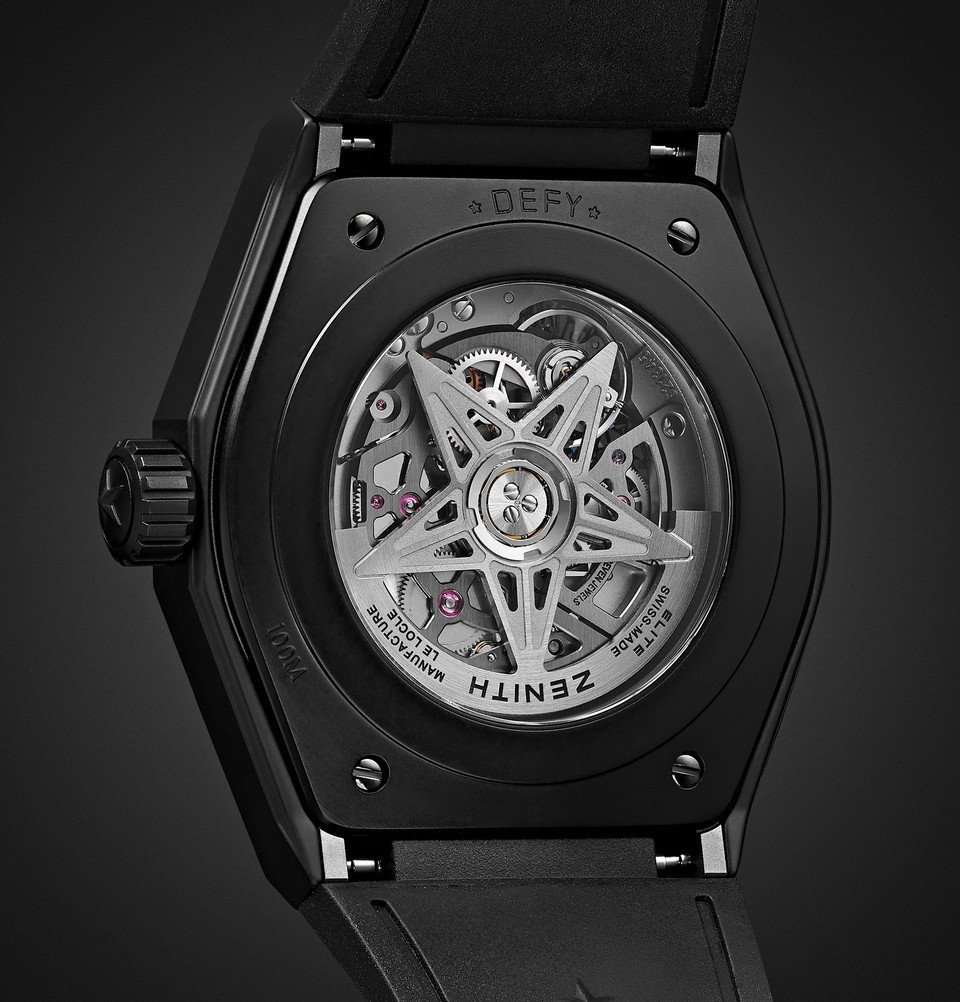 Zenith - Defy Classic Automatic 41mm Ceramic and Rubber Watch - Black