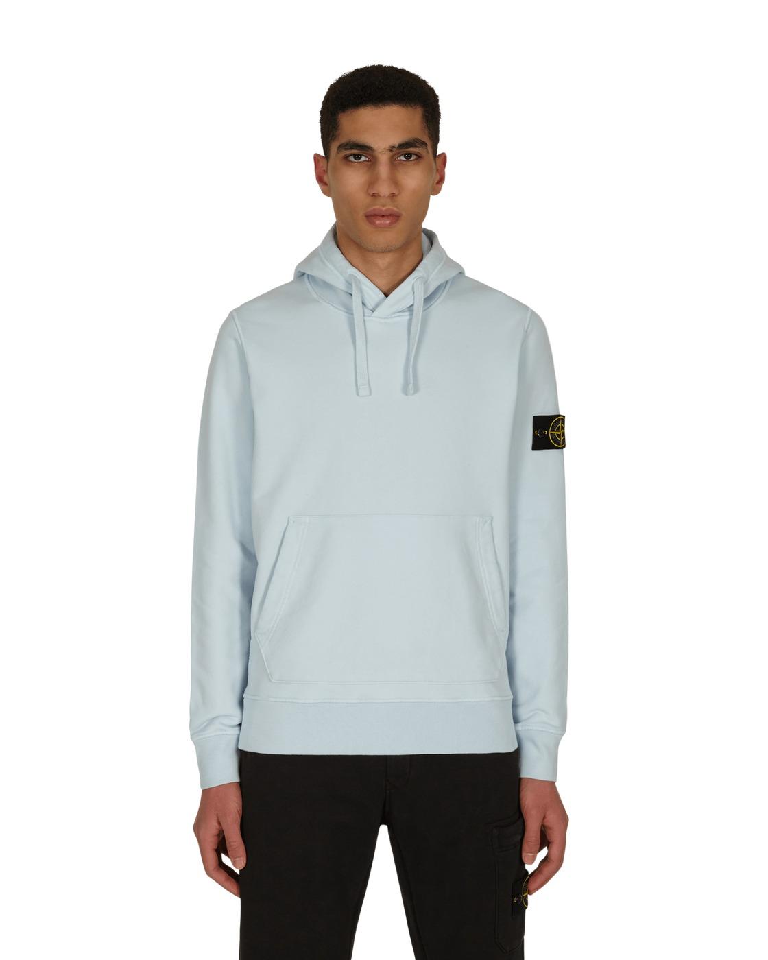 Stone Island Basic Hooded Sweatshirt Light Blue