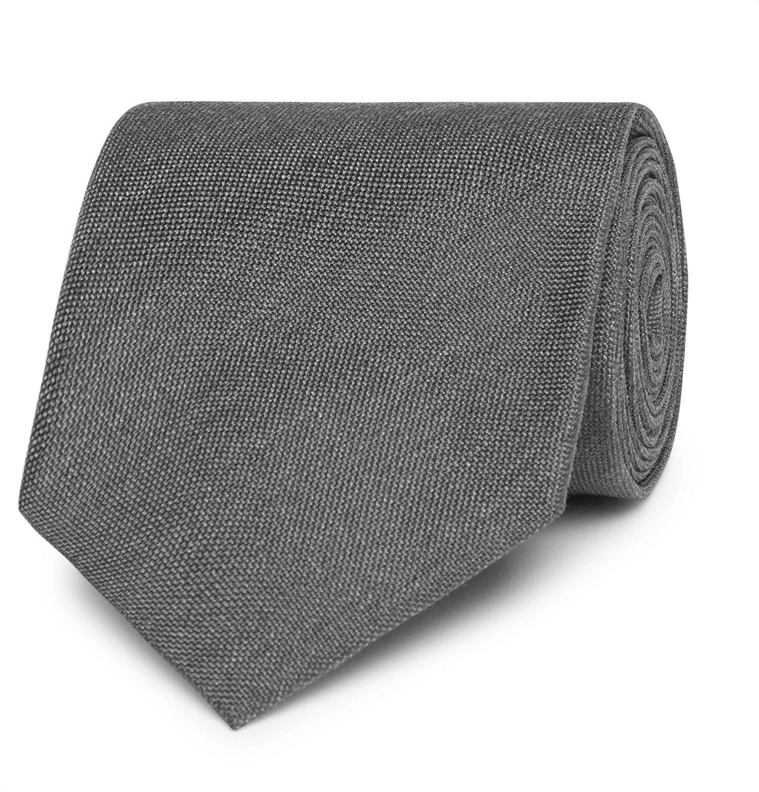 Photo: TOM FORD - 8cm Silk-Jacquard Tie - Gray