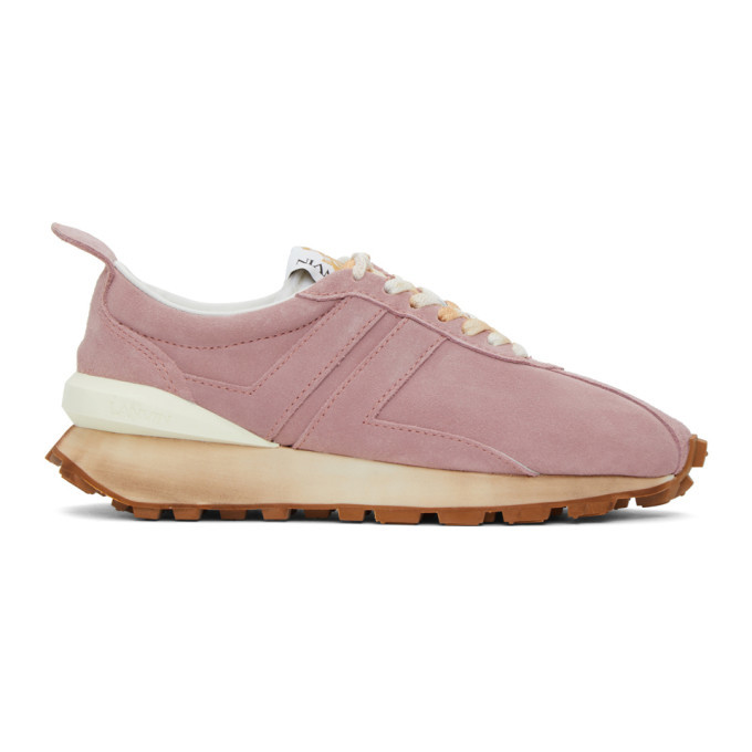 Photo: Lanvin Pink Suede Bumper Sneakers