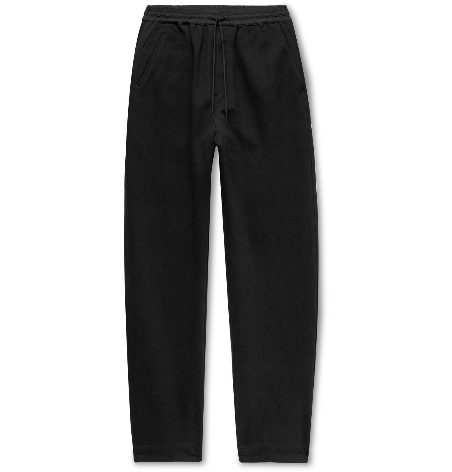 Photo: Y-3 - Wide-Leg Loopback Cotton-Jersey Sweatpants - Black