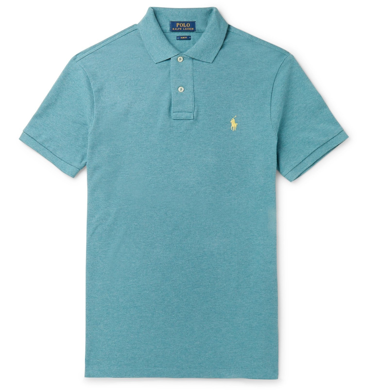 Photo: Polo Ralph Lauren - Slim-Fit Cotton-Piqué Polo Shirt - Blue