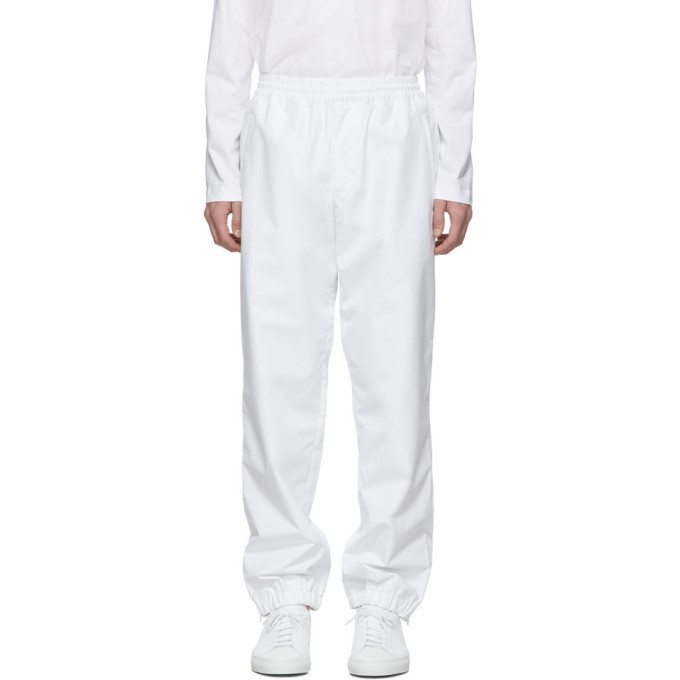Photo: Helmut Lang White Pull-On Track Pants
