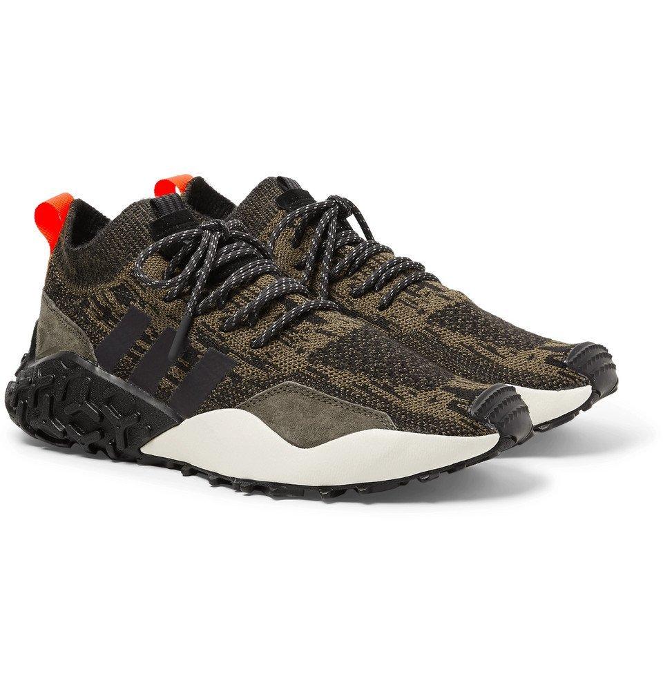 Photo: adidas Originals - Atric F/2 TR Suede-Trimmed Primeknit Sneakers - Men - Brown