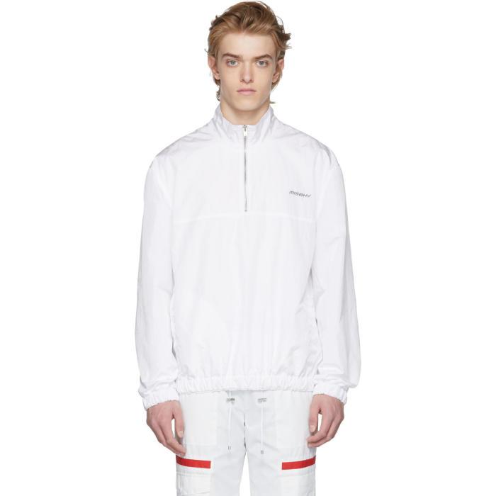 Photo: MISBHV White Half-Zip Sport Track Jacket