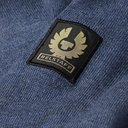 BELSTAFF - Kerrigan Slim-Fit Quilted Shell-Trimmed Merino Wool Sweater - Blue