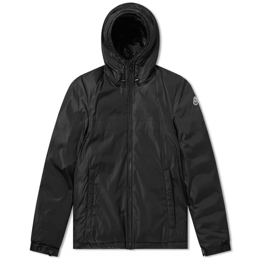 Photo: Moncler Montvernier Logo Hooded Light Down Jacket