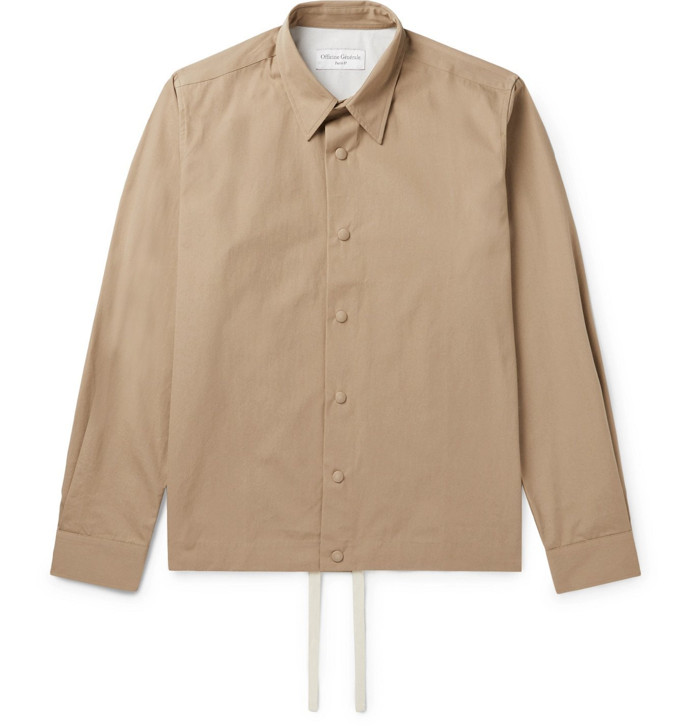 Photo: Officine Generale - Stan Cotton-Twill Overshirt - Neutrals