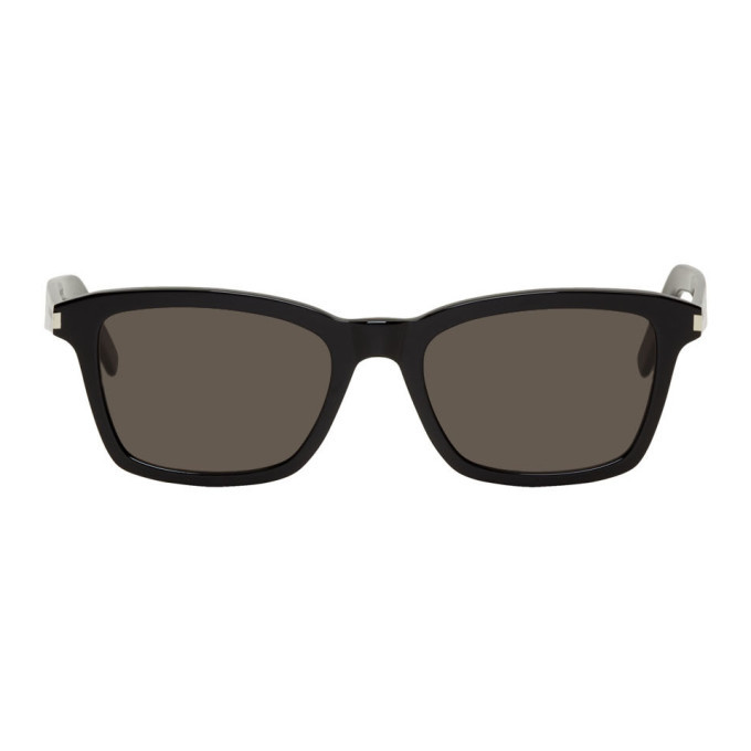 Photo: Saint Laurent Black SL 283 Slim Sunglasses