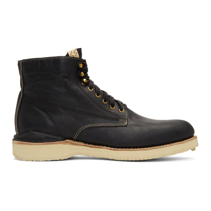 Photo: Visvim Black Virgil Folk Boots