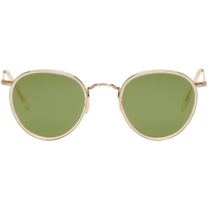 Oliver Peoples Gold Vintage MP-2 Sunglasses