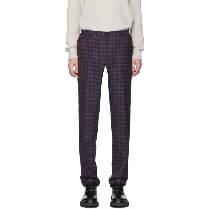 Photo: Etro Blue Check Wool Trousers