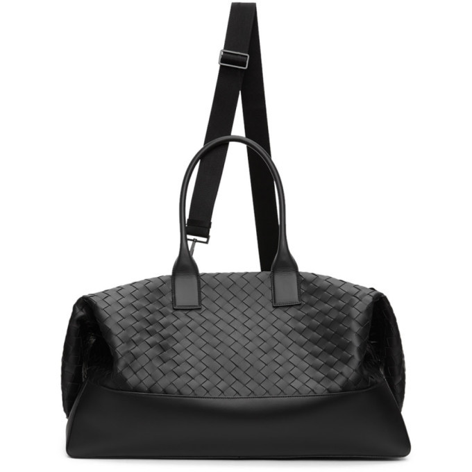 Photo: Bottega Veneta Black Intrecciato Duffle Bag