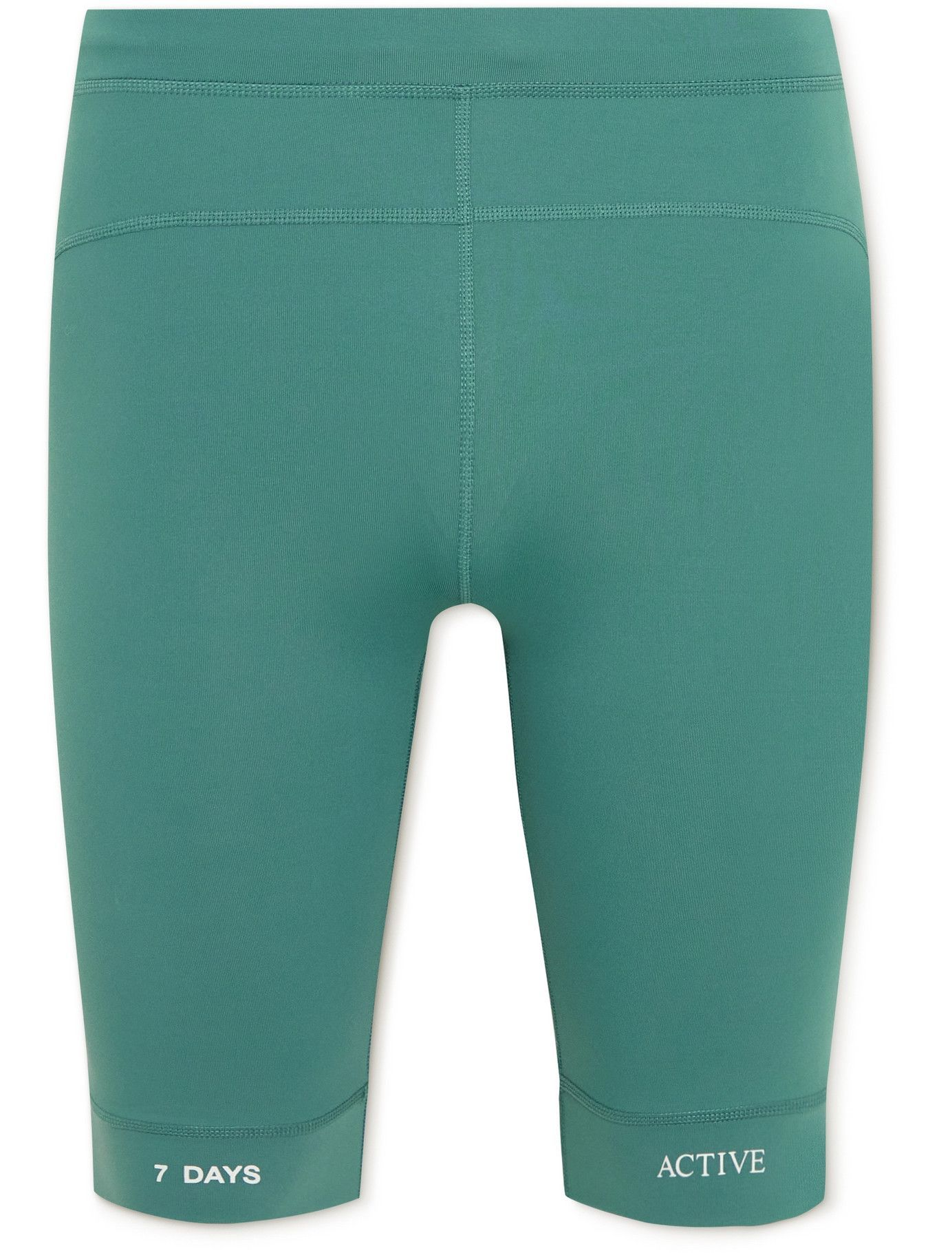 Photo: 7 DAYS ACTIVE - Printed Stretch-Jersey Compression Shorts - Green