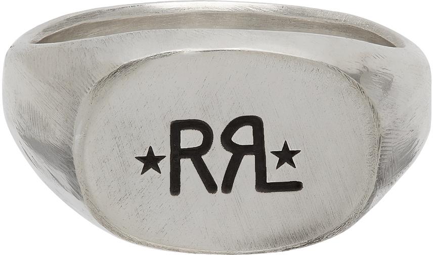 RRL Silver Logo Signet Ring