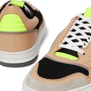 DUNHILL - Court Pro Suede-Trimmed Mesh and Leather Sneakers - Brown