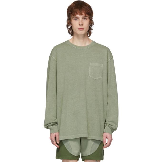 Photo: John Elliott Green Loose Stitch Long Sleeve T-Shirt