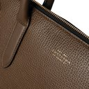 Smythson - Ludlow North South Full-Grain Leather Tote Bag - Green