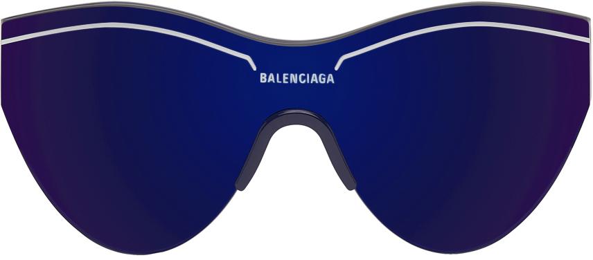 Photo: Balenciaga Blue Ski Cat Sunglasses
