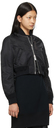 Sacai Black Nylon Twill Blouson Bomber Jacket