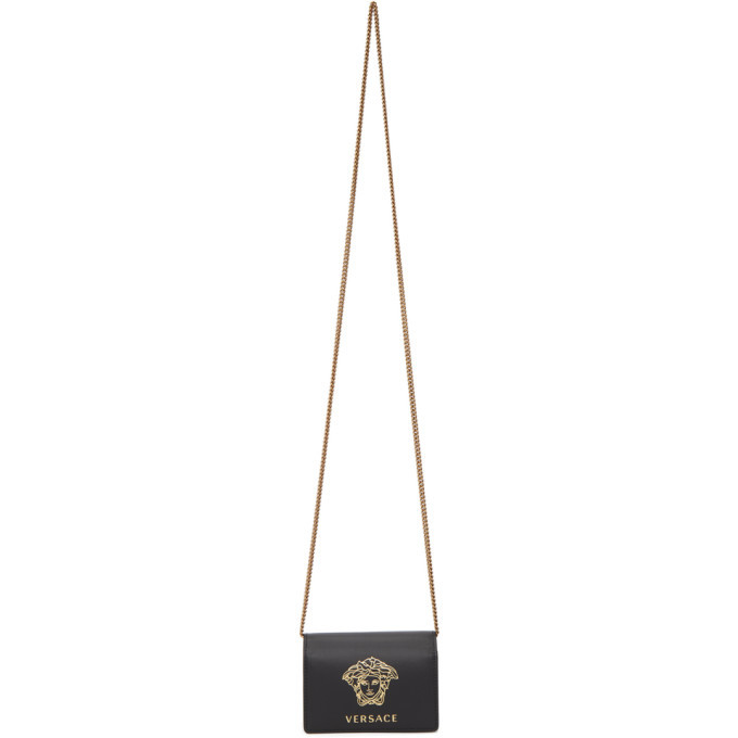 Photo: Versace Black and Gold Medusa Flap Card Holder
