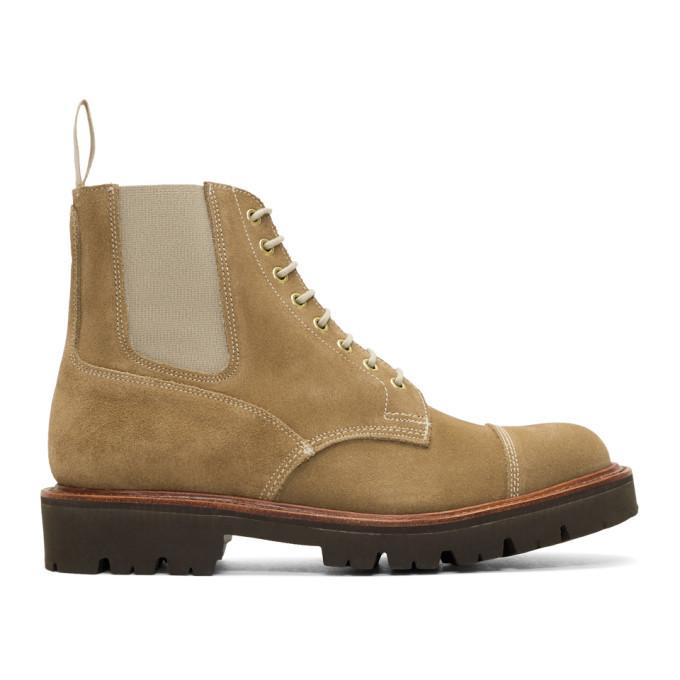 Photo: Grenson Beige Suede Vintage Patru Boots